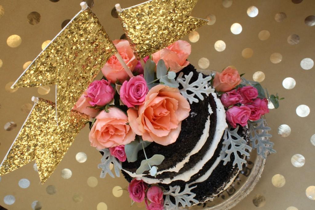 Gold Glitter Cake 3